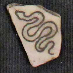 cottonmouth snake engraving