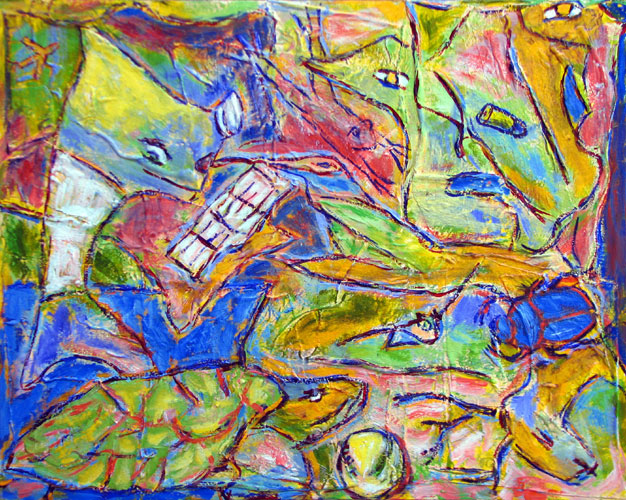 """Hummingbird"" contemporary figurative painting by Joe Moorman at Riverson Fine Art"