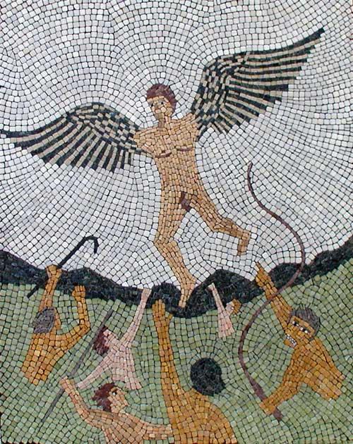 """In Dreams Untouchable"" mosaic art. tumbled stone, hand cut. 24"" x 30"""