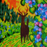 Deer in the Vineyard 2