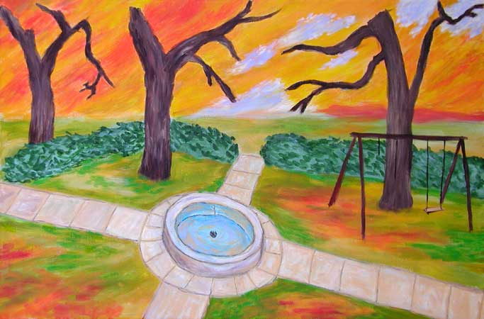 """""""This Was the Park"""" contemporary figurative painting"""