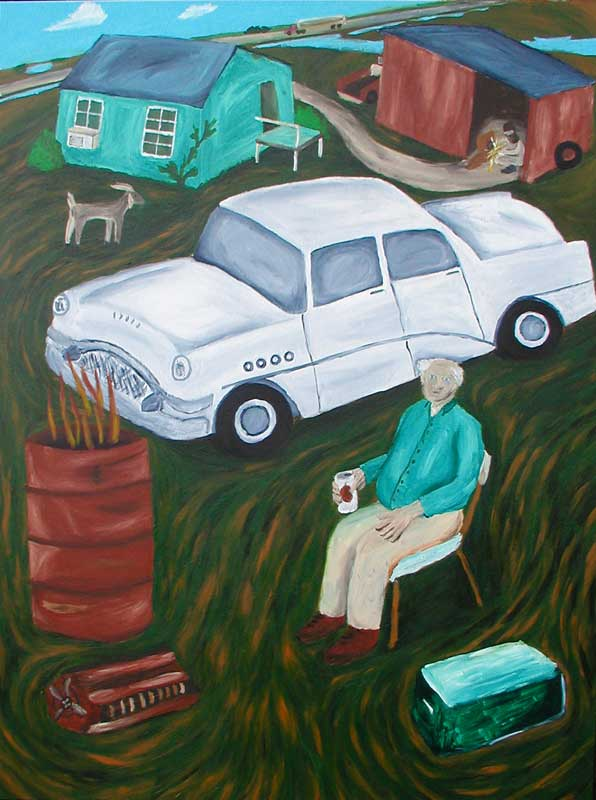 The White Car painting