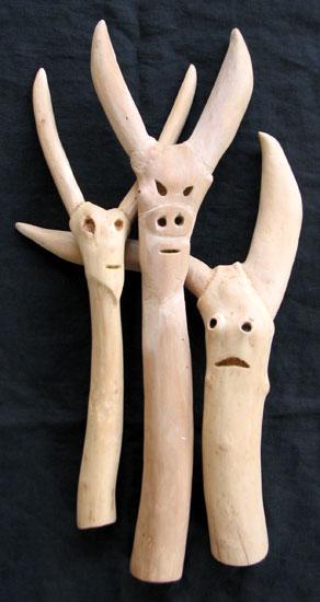 Wood Devils sculpture carvings
